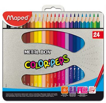 MAPED COLOR'PEPS COLOURING PENCILS - TIN of 24